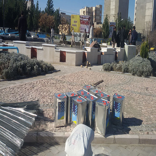 Collaboration with Sabzevar Municipality to seal the water of the Laleh Sabzevar Square