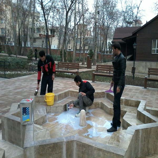 Cooperation with the Tehran Municipality to seal the water of the National Garden of Tehran with nano calimera materials
